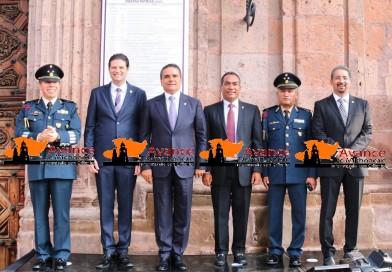 Autoridades realizan Recorrido en Bando Solemne para la fijación de actividades del mes patrio en Morelia.
