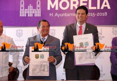 Morelia y Tlacotlalpan firman hermanamiento: Ayuntamiento de Morelia.