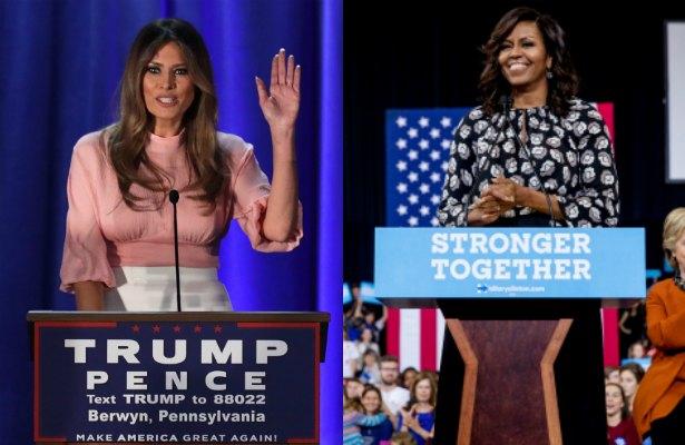Michelle Obama y Melania Trump toman el té y hablan sobre la familia.