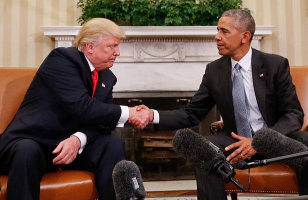 Trump afirma que está abierto a recibir consejos de Obama.