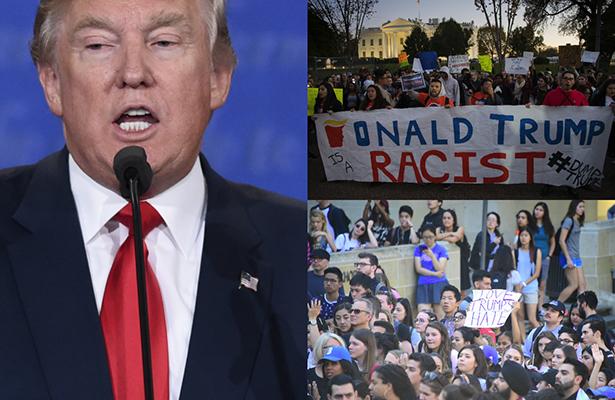 """""""¡No es mi presidente!"""": más protestas contra el triunfo de Trump"""