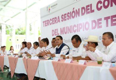 Acciones articuladas para lograr transformación de Tepalcatepec: Silvano Aureoles