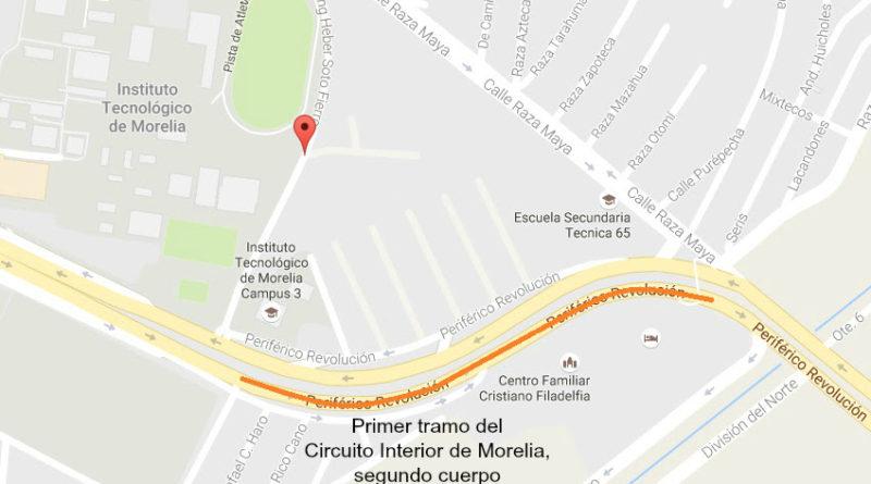 Reitera SCOP vías alternas por construcción del Circuito Interior de la capital michoacana