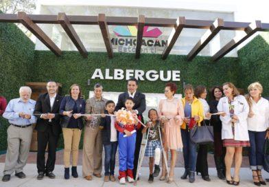 Inaugura Gobernador Albergue del Hospital Infantil de Morelia
