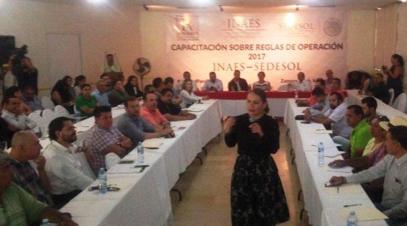 Delegación de  INAES en Michoacán, da a conocer reglas de operación