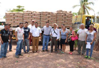 Entregan toneladas de cemento a familias en Apatzingán