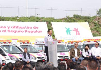 Entrega histórica de ambulancias a municipios michoacanos
