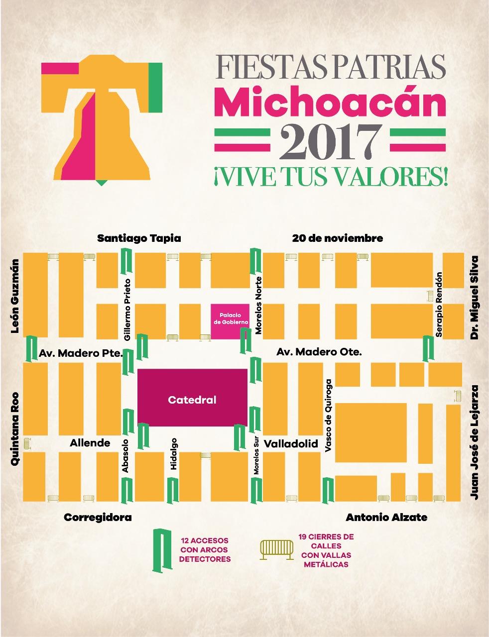 Detalla SSP dispositivo vial y de acceso por festejos patrios en Morelia