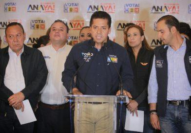 Se consolida Ricardo Anaya como la mejor opción, destaca Toño García