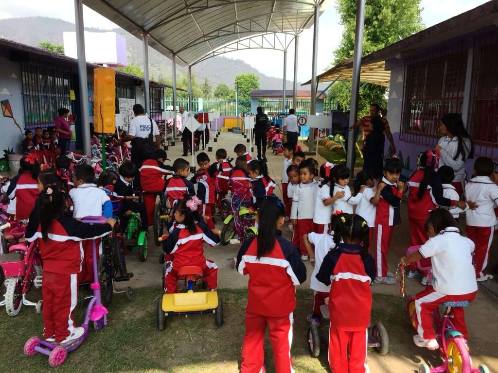 Refuerza SSP programa Escuelas Comprometidas por Nuestra Seguridad en Ciudad Hidalgo