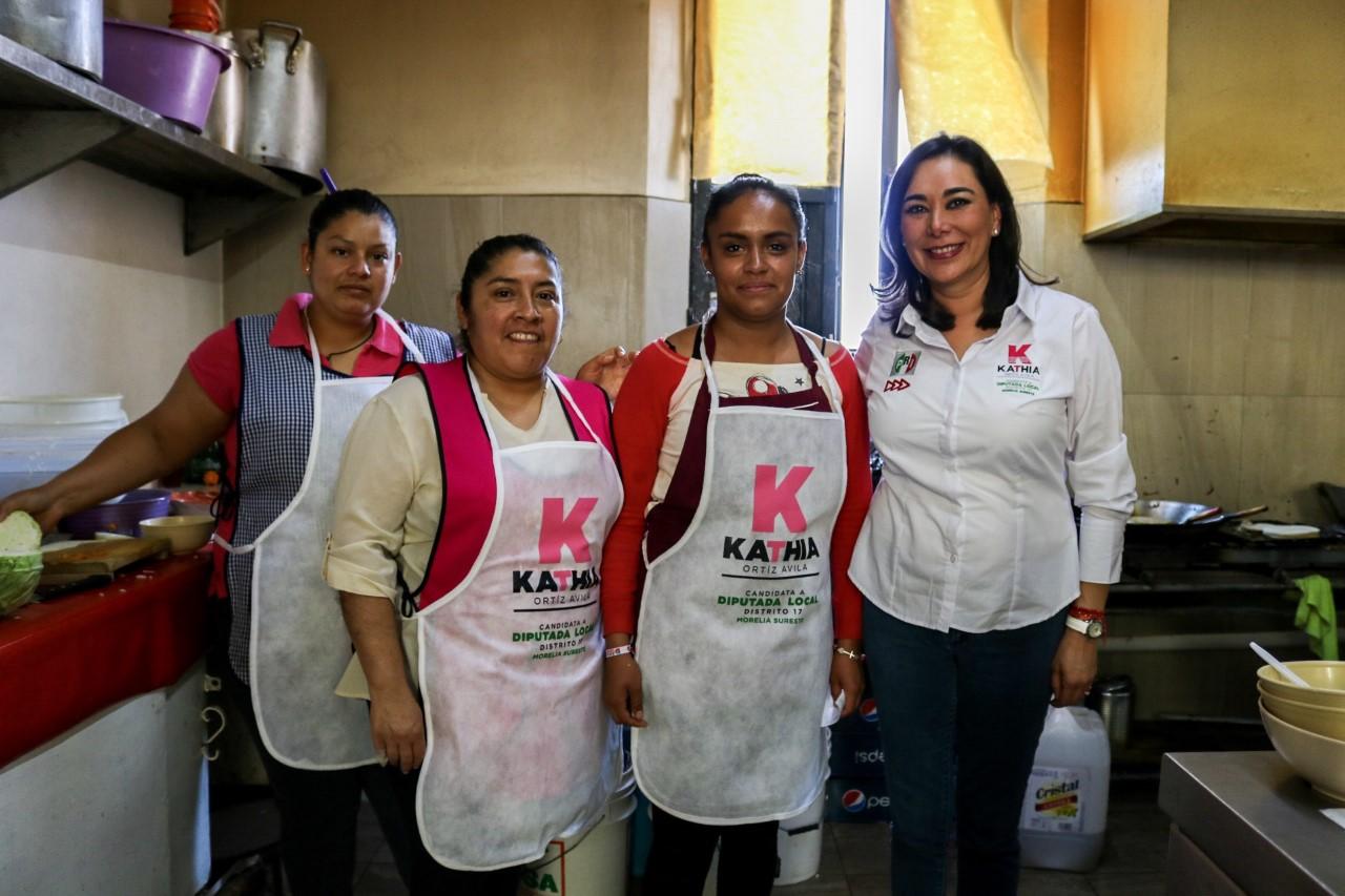 Campaña de contacto directo con los morelianos, ofrece Kathia Ortiz