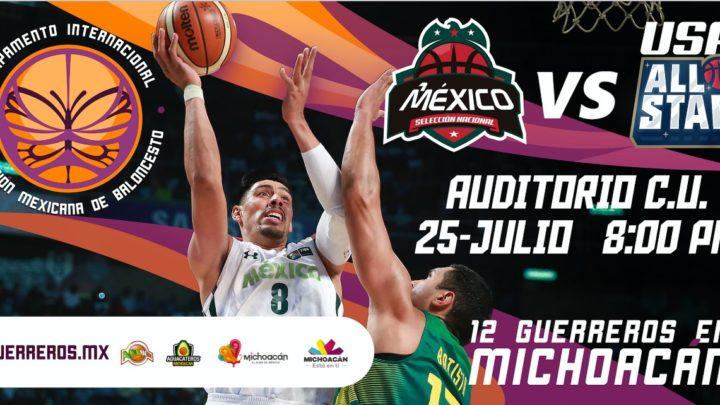 Vivirá Michoacán gran fiesta deportiva con Selección Mexicana de Básquetbol
