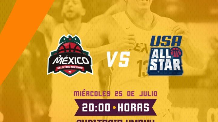 Inicia venta de boletos para duelo amistoso de la Selección Mexicana de Baloncesto vs USA All Star