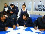 Reciben elementos de la Policía Michoacán atención integral