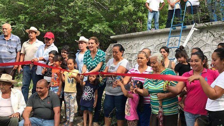En la recta final la presidente Giselle Liera inaugura obra pública