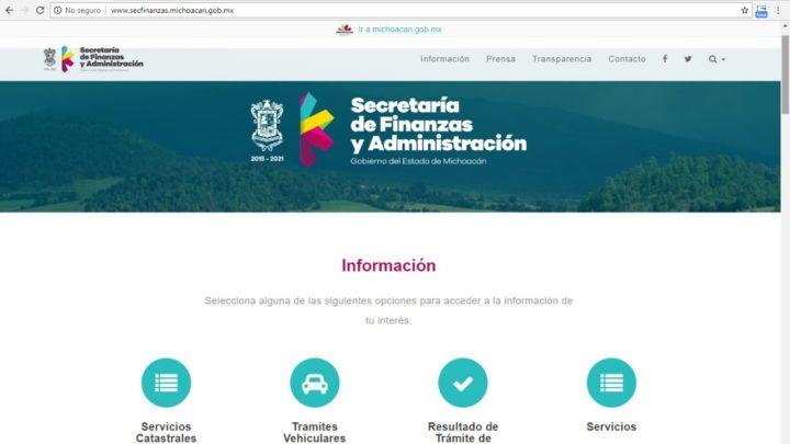 Ofrece SFA información sobre trámites en su página oficial