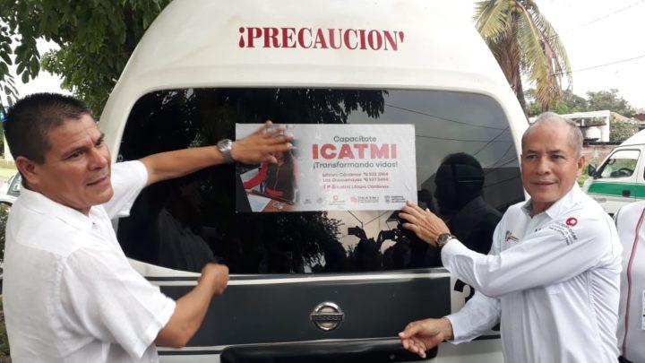 Entrega ICATMI Constancia de Calidad de servicio a trabajadores del volante